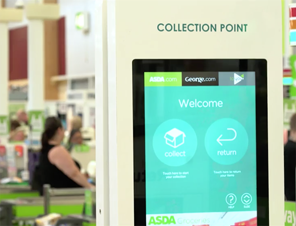 Les Points de retrait colis d'Asda reposent sur les solutions Manhattan Associates