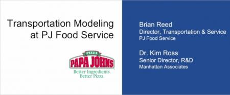 Transportation Modeling Papa Johns Food Service