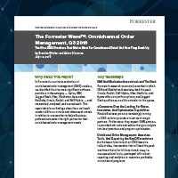 Forrester Wave, Omnichannel Order Management Q3 2016.